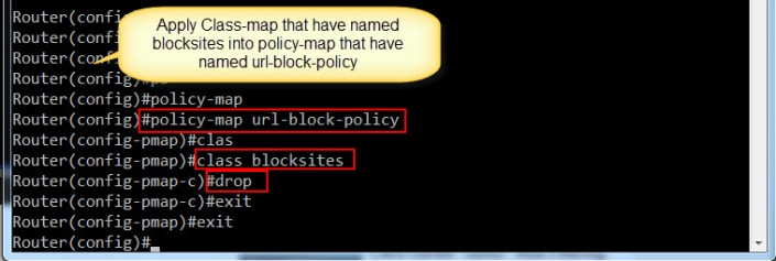 2. Apply Class-map into Policy-Map